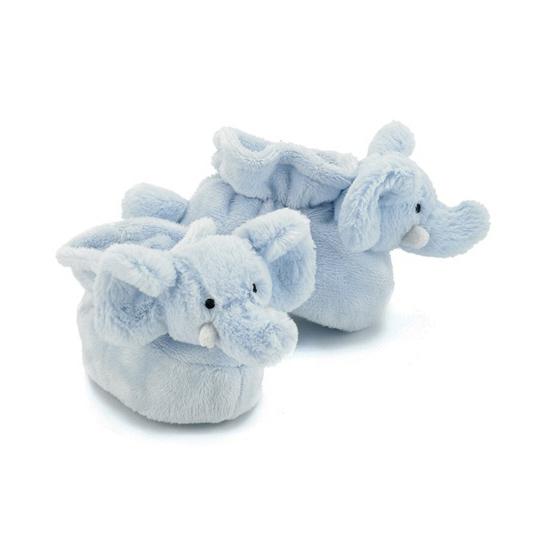Blauwe olifant baby slofjes