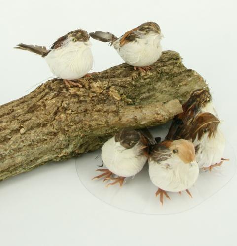 Bruine Decoratie Vogels Op Draad aanbieding