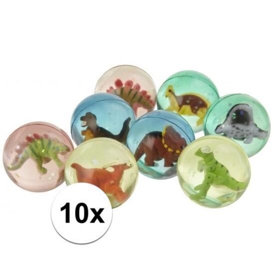 Speelgoed diversen Geen 10x Stuiterbal met dinosaurus 4,5 cm