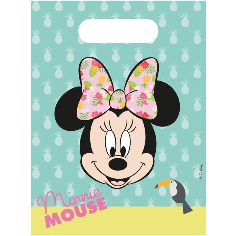 12x Disney Minnie Mouse tropical themafeest uitdeelzakjes