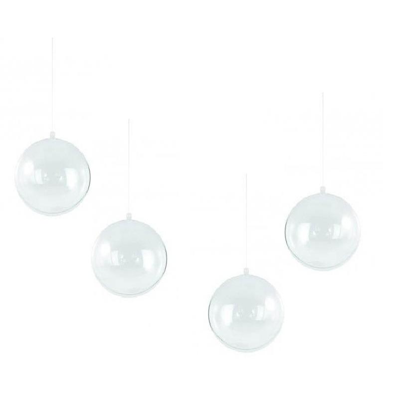 12x stuks transparante DIY kerstballen van 14 cm