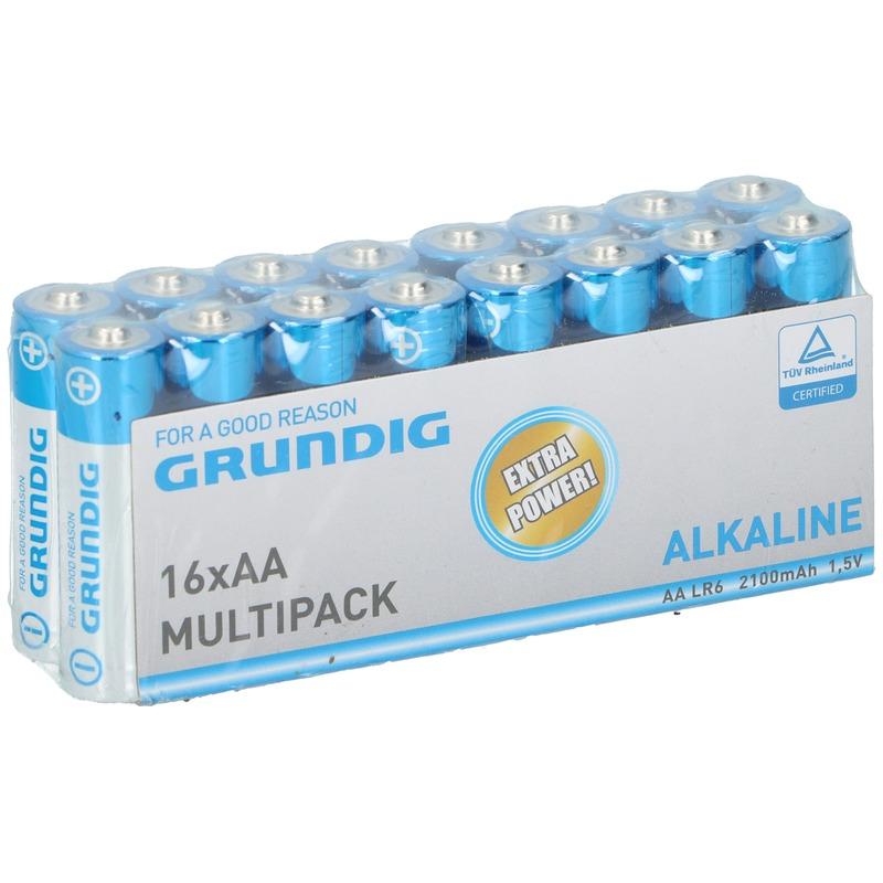 16x Grundig AA batterijen alkaline 1.5 V