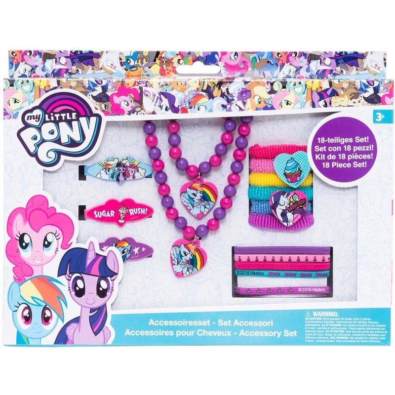 18x My Little Pony haaraccessoires-sieraden set voor meisjes