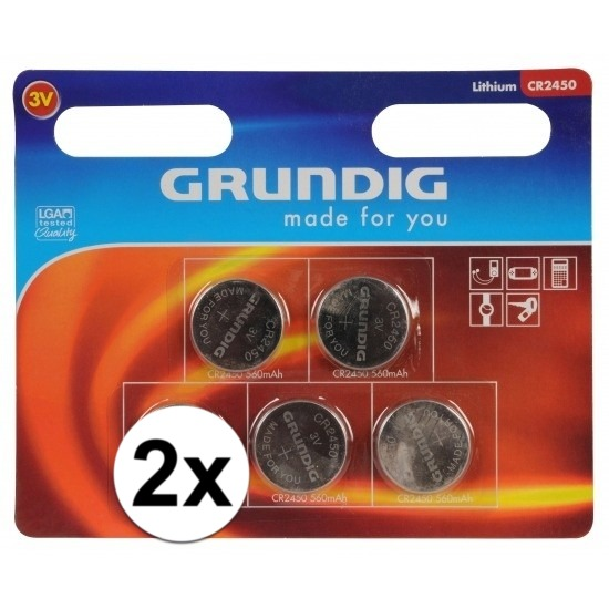 2 pakjes Knoopcel batterijen 5 stuks CR2450