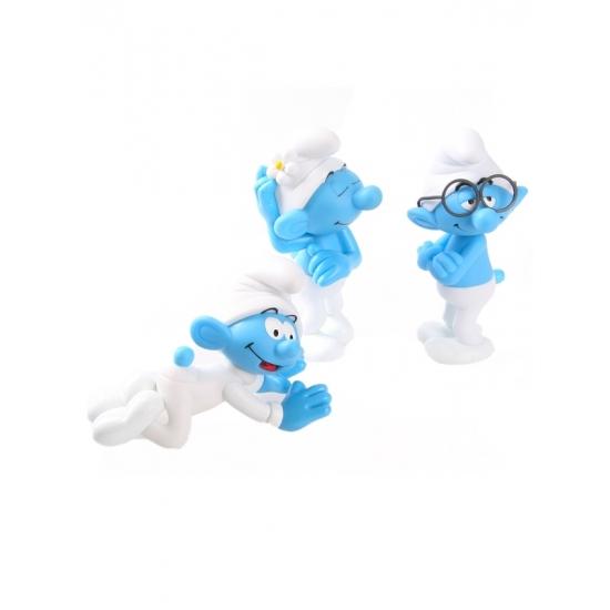 Speelfiguren sets Smurfen 3 plastic Smurfen 13 cm