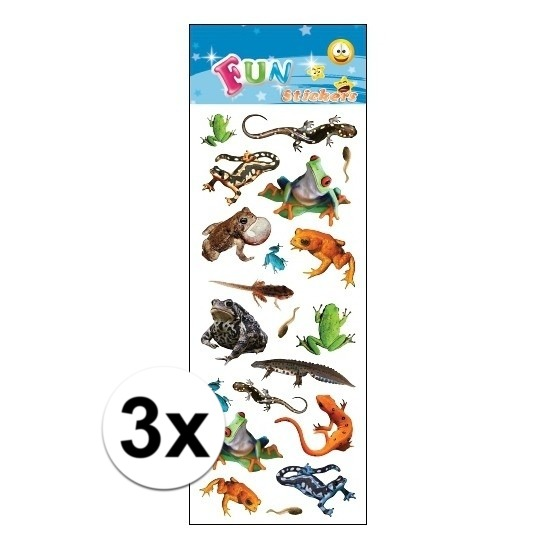 Schoolspullen 3x Dieren stickervel reptielen