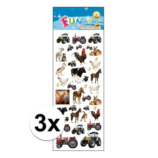 3x Stickervel boerderij dieren Geen goedkoop online kopen