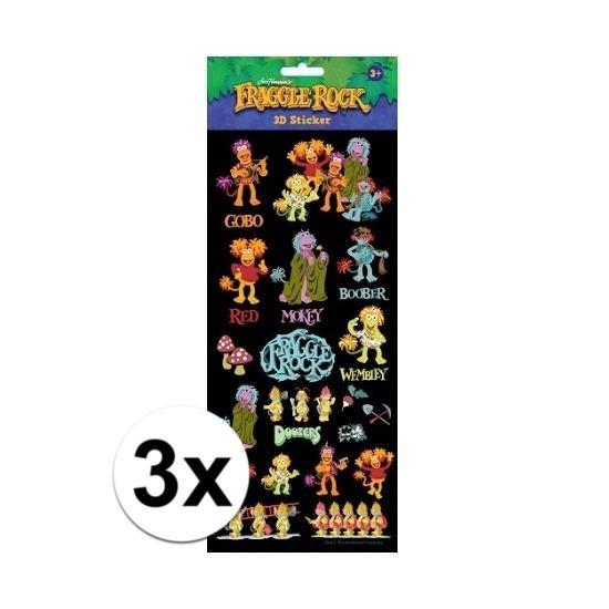 Schoolspullen Geen 3x Stickervellen 3D The Freggels