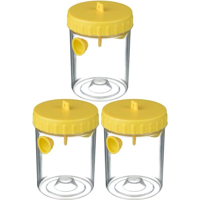 3x Wespenvangers-wespenvallen geel 14 cm