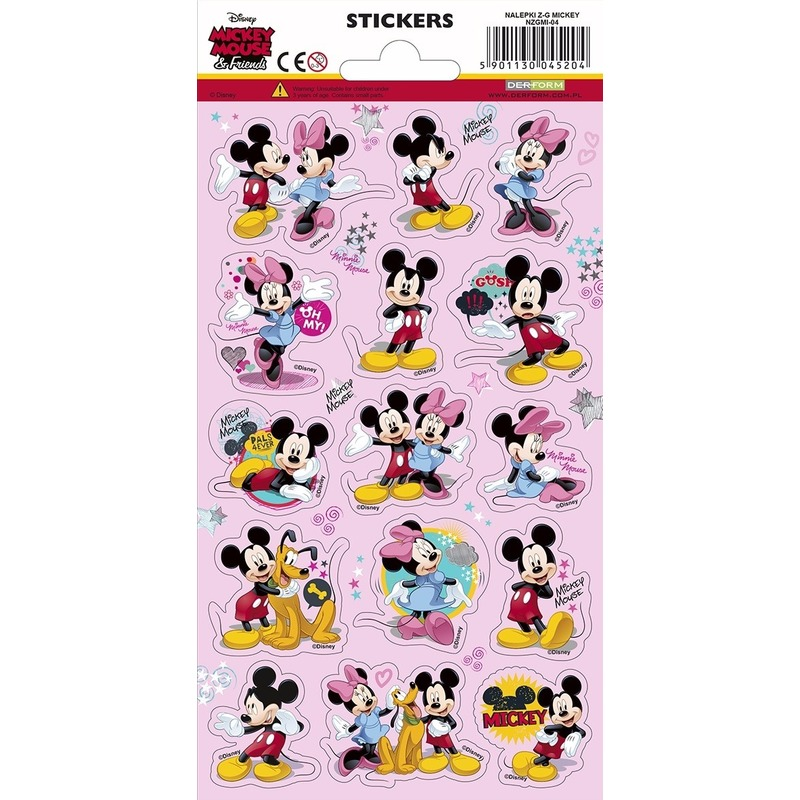 45x Disney Mickey Mouse and friends stickers speelgoed