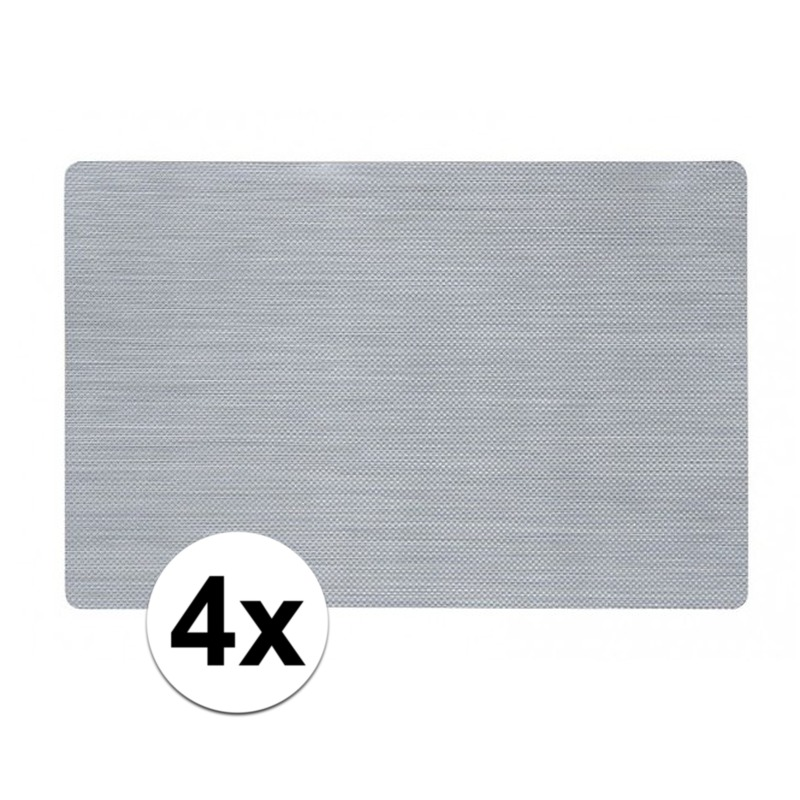 Keuken Geen 4x Placemat zilver 43 x 28 cm