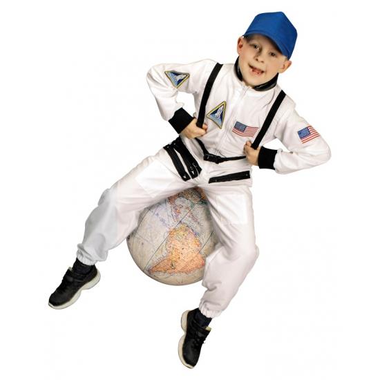 Astronaut kostuum voor kinderen. wit astronauten kostuum voor kinderen. inclusief pet en gemaakt van 100% ...