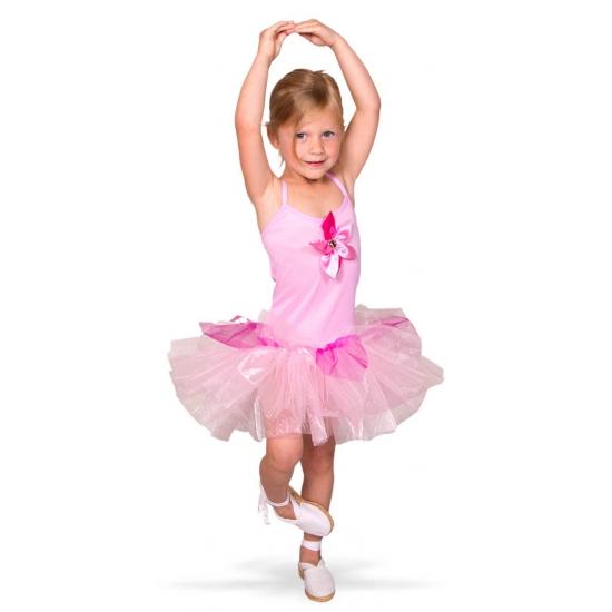 Ballerina kostuum voor meisjes. roze ballerina kostuum met tule rokje voor meisjes. exclusief schoenen....
