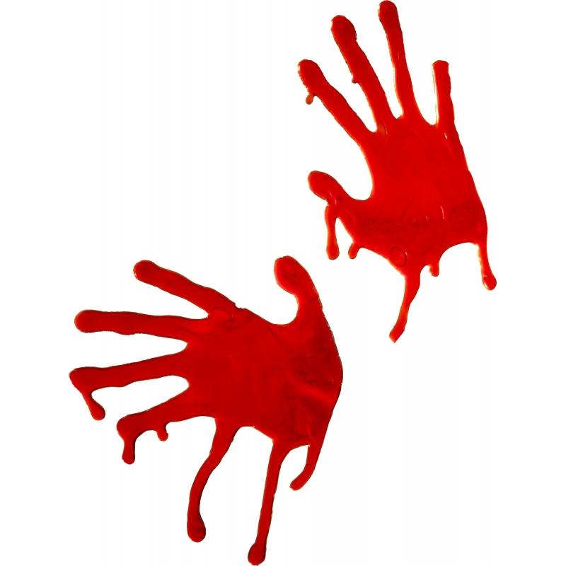 Bloedige handafdrukken