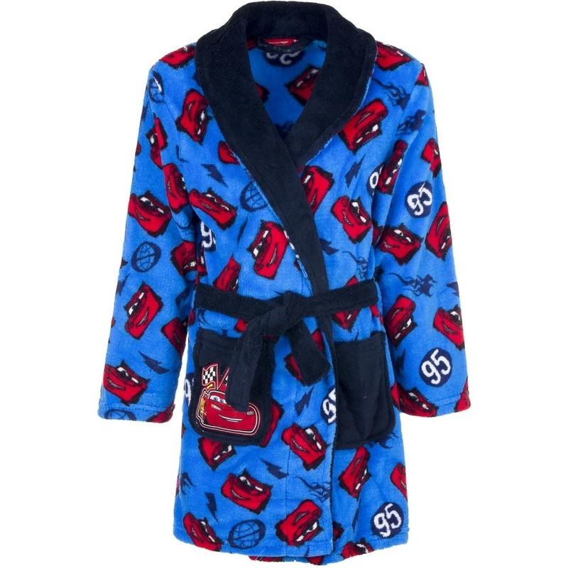 Cars fleece badjas blauw voor jongens Disney Kleding accessoires
