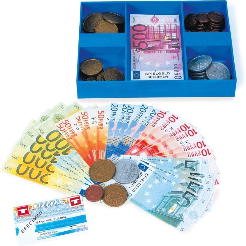 Casette gevuld met speel geld