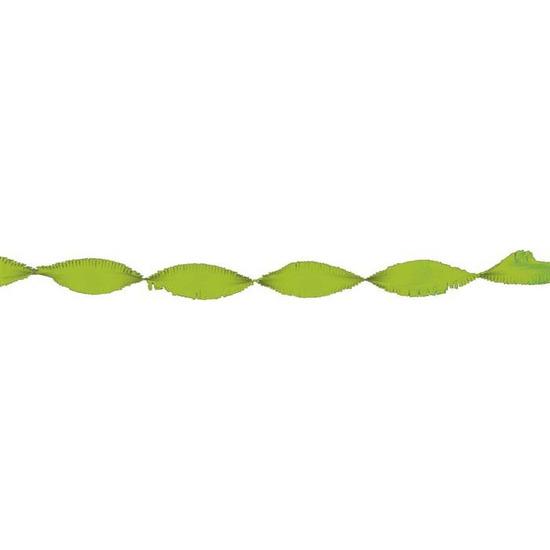 Crepe papier slinger lime groen