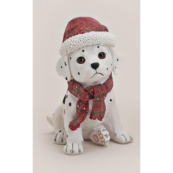 Dalmatier beeldje met kerstmuts