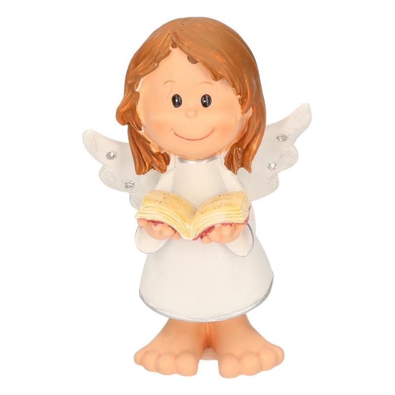 Decoratie engel met boek