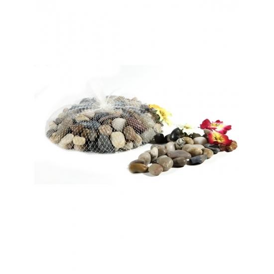 Decoratie steentjes in netje 1 kg