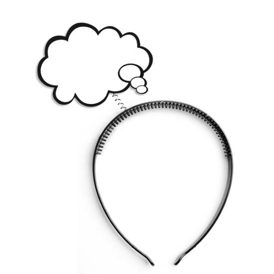 Diadeem met denk wolkje tekstballon accessoires