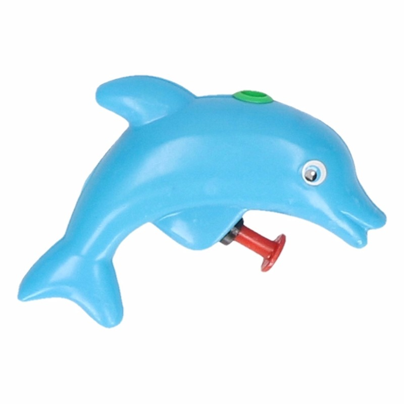 Waterspeelgoed Dolfijn waterpistool blauw 9 cm