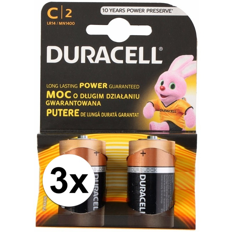Duracell batterijen CR-LR14 6 stuks
