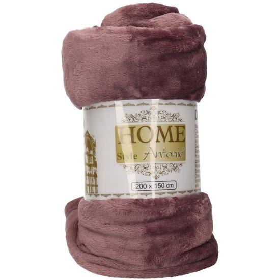 Fleece deken-plaid antiek paars 150 x 200 cm