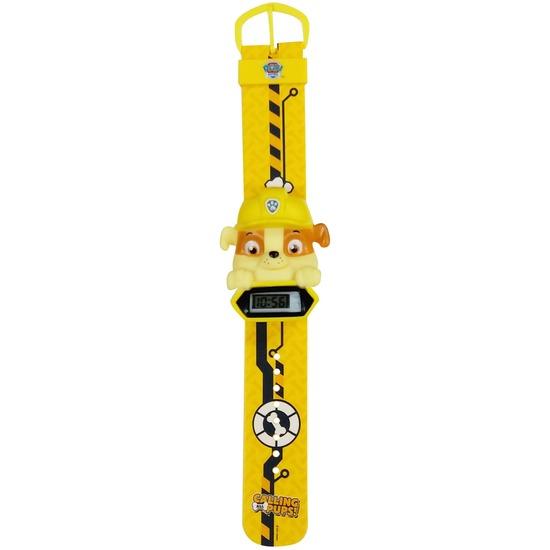Speelgoed diversen Paw Patrol Geel Paw Patrol digitaal horloge Rubble voor jongens meisjes