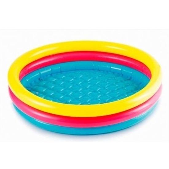 Gekleurd rond opblaasbaar zwembad klein 61 cm baby-kinderen