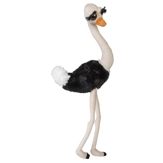 Grote pluche struisvogel knuffel 65 cm