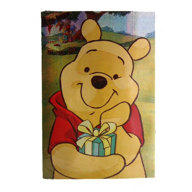 Grote verjaardagskaart Winnie de Poeh 26 x 38 cm