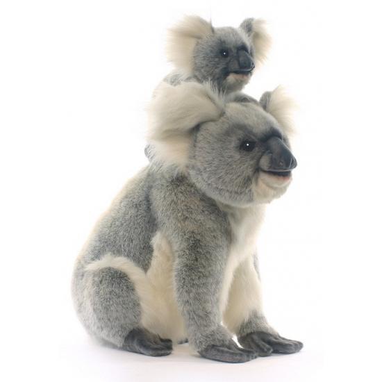 Hansa pluche koala knuffel met baby 60 cm