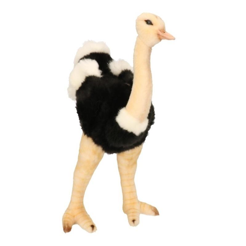 Hansa pluche struisvogel knuffel 32 cm