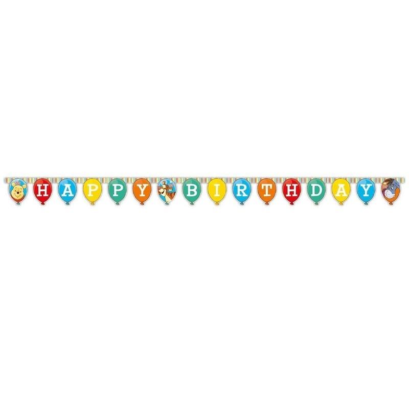Kinderfeestjes Happy Birthday slinger Winnie de Poeh