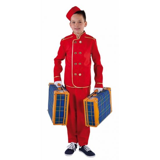 Hotelbediende kostuum voor kinderen. dit rode hotelbediende kostuum voor kinderen bestaat uit een broek, jas ...