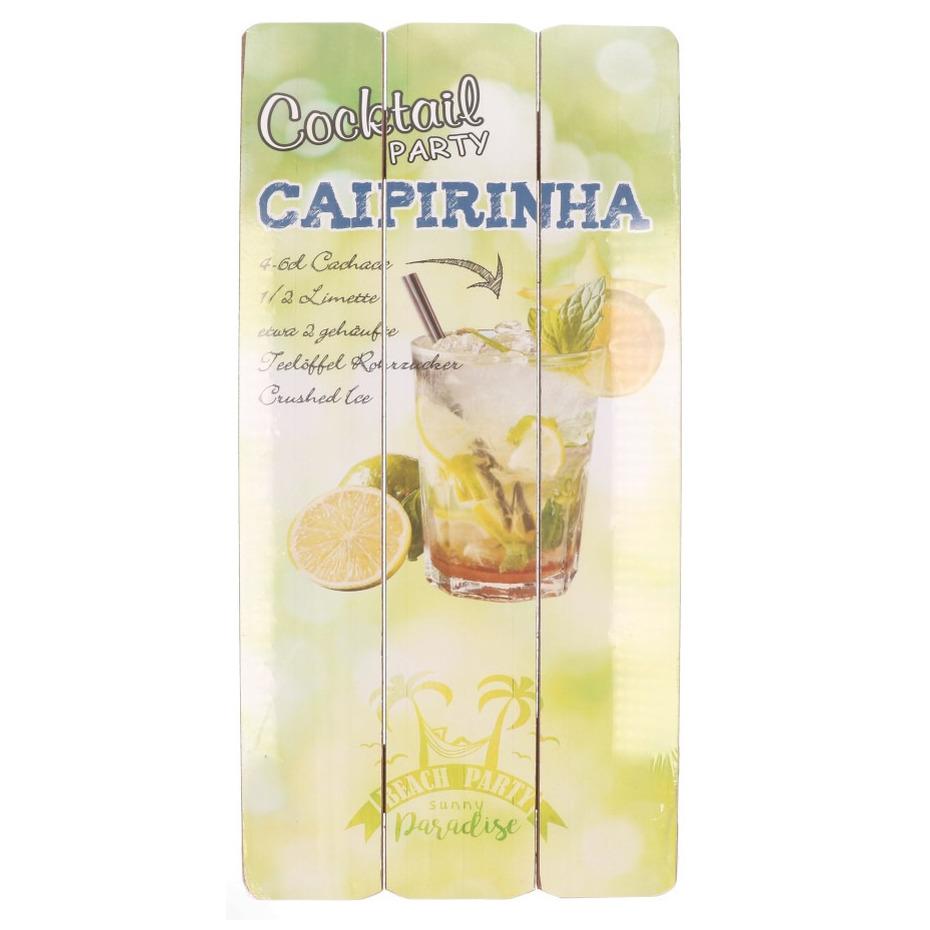 Houten wandbordje Caipirinha