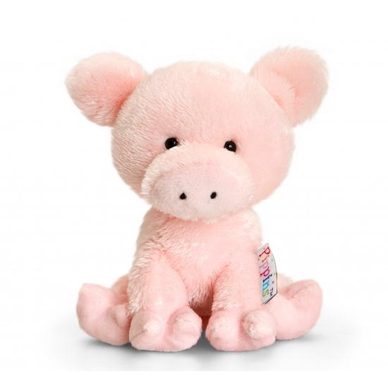 Keel Toys pluche varken knuffel 14 cm