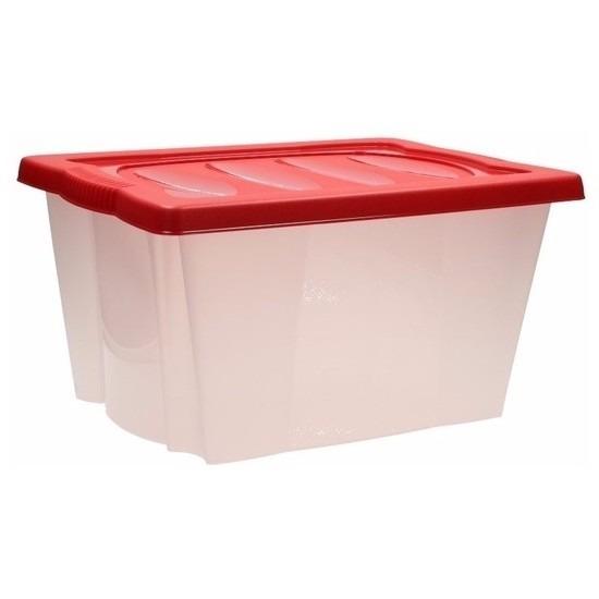 Kerstballen opbergbox rood