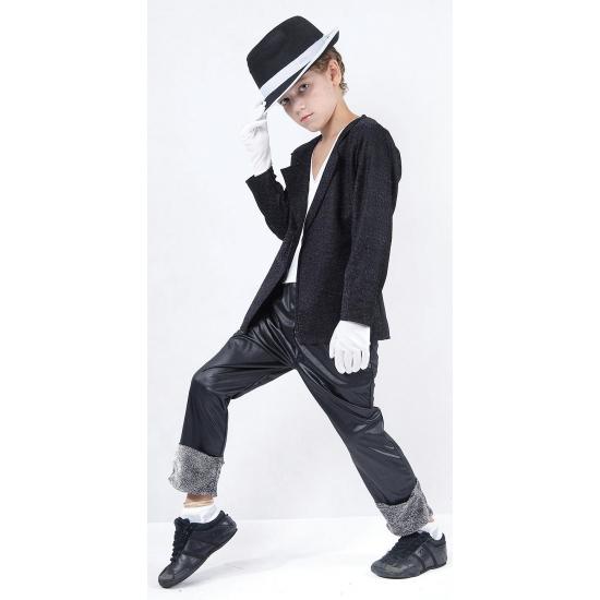 Superstar michael kostuum voor kids. zwart michael superstar kostuum voor kinderen. het kostuum bestaat uit ...