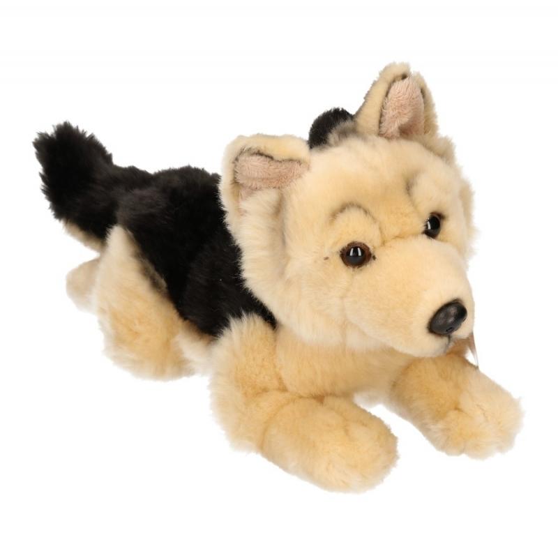 Knuffel hond Duitse herder pluche 26 cm