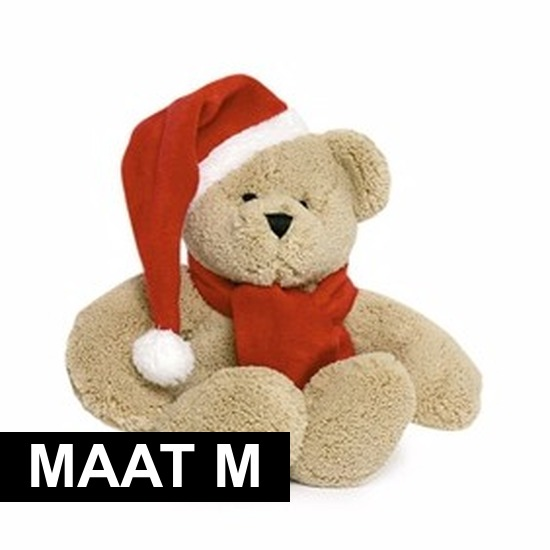 Knuffel kleding rode sjaal maat M voor Clothies knuffels
