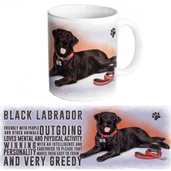 Koffie mok zwarte Labrador