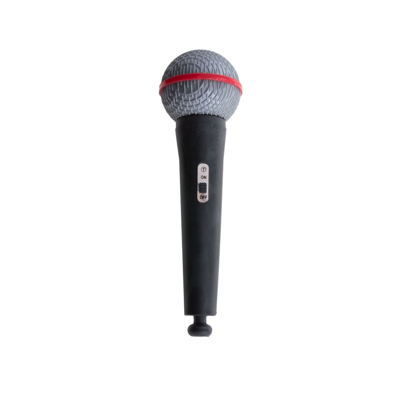 Kunststof speelgoed microfoon 19 cm