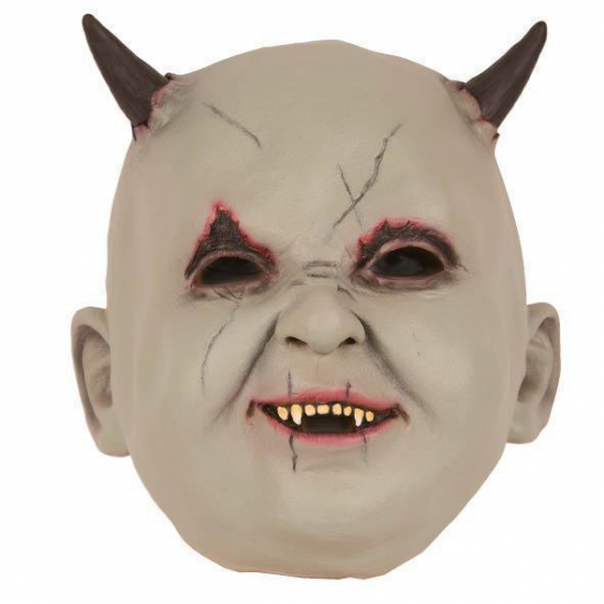 Latex horror masker baby duivel