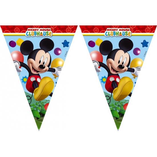 Kinderfeestjes Disney Mickey Mouse vlaggenlijn 2,3 meter