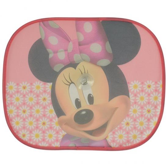 Minnie Mouse auto zonneschermen roze 2 stuks