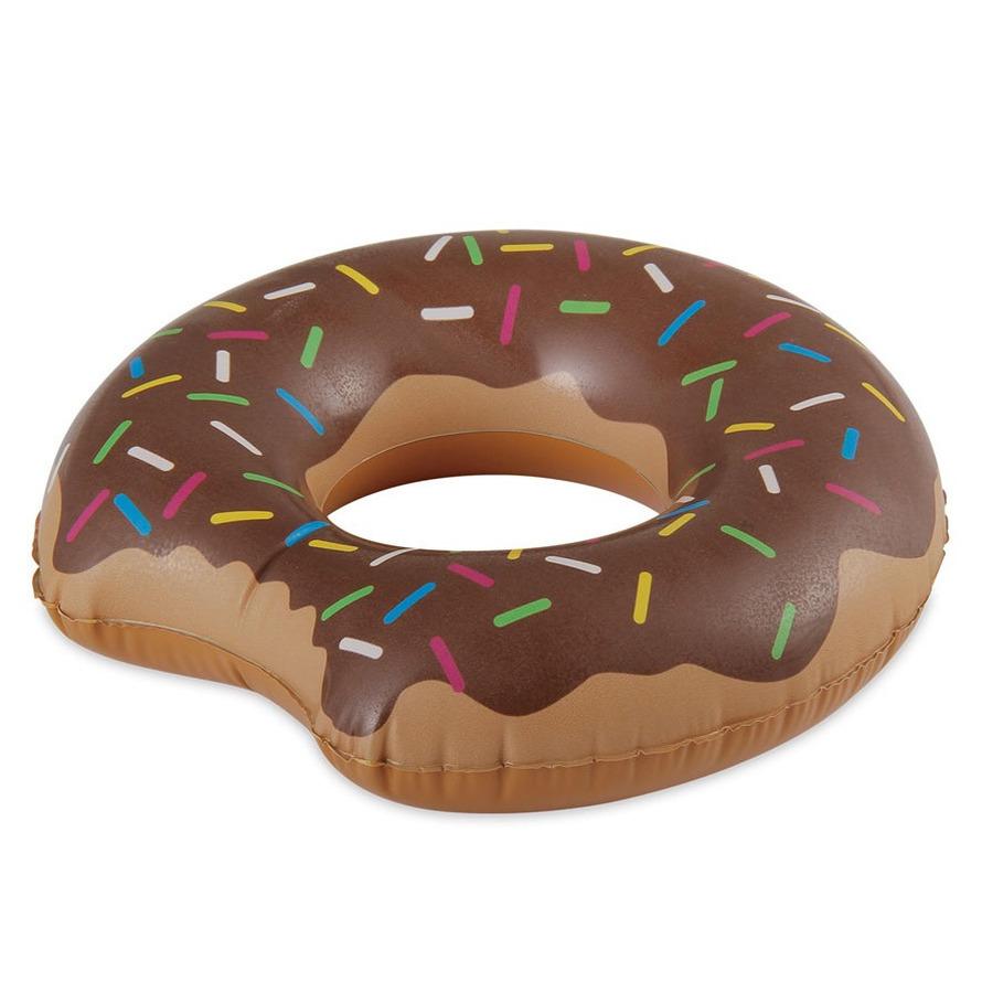 Opblaasbare chocolade donut zwemband 89 cm