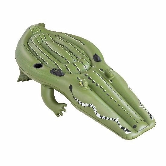 Opblaasbare mega krokodil 259 x 104 cm