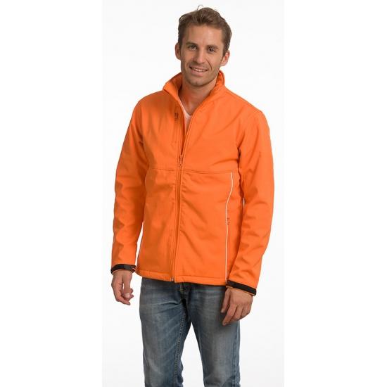 Oranje softshell herenjack